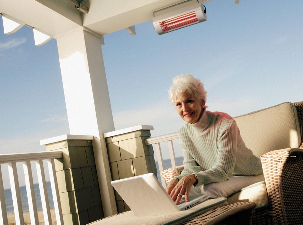 UTEcomfort levering moderne og sertifisert Solamagic terrassevarmer varmelampe ECO PRO 2000 i Oslo og Akershus, Norge med god pris for best kvalitet i markedet for din moderne og klassiske terrasse